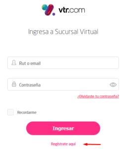 Registrarte en VTR