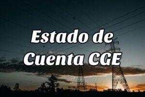 Cómo consultar el Estado de Cuenta CGE on line