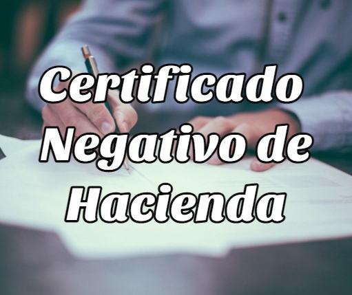certificado negativo hacienda 2
